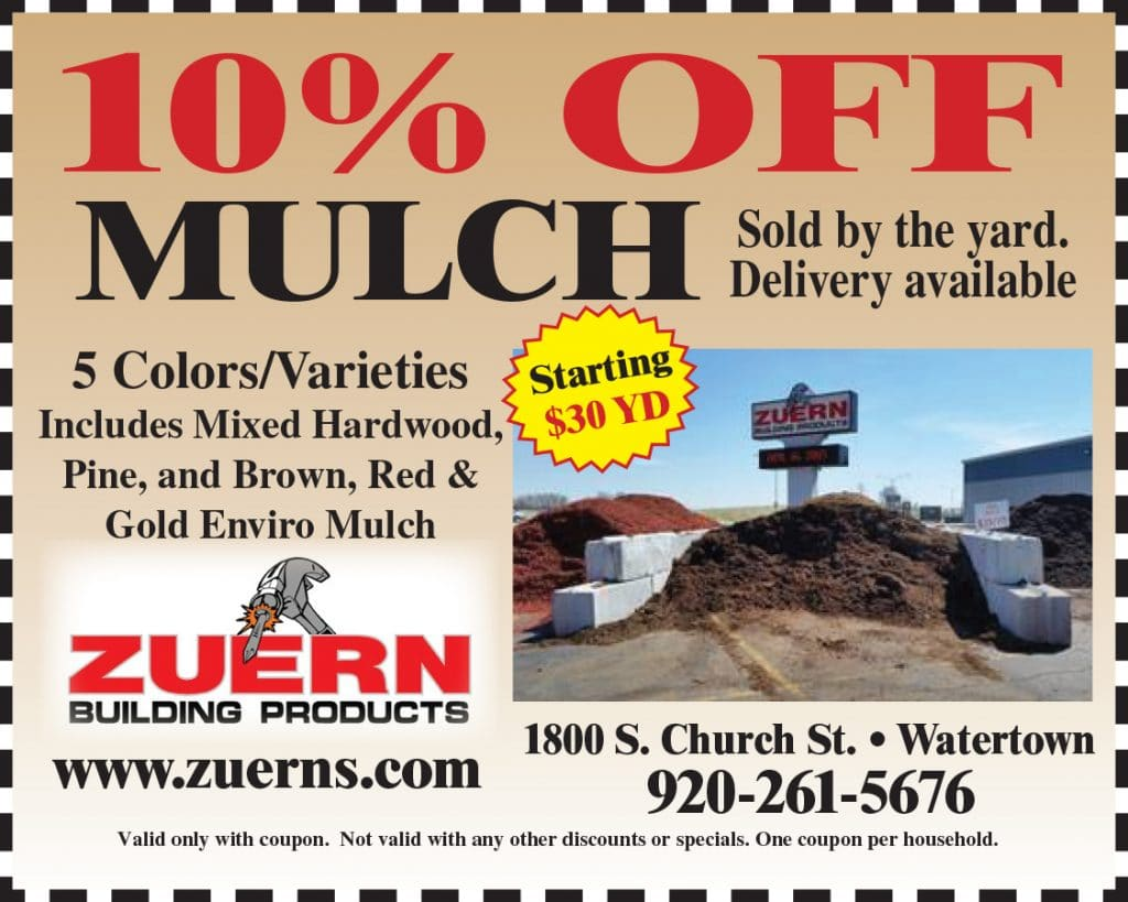 Zuern Building Products 10% off Mulch Coupon